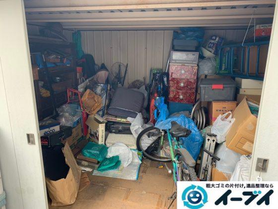 2019年7月19日大阪府大阪市旭区で物置の中の不用品回収。写真5