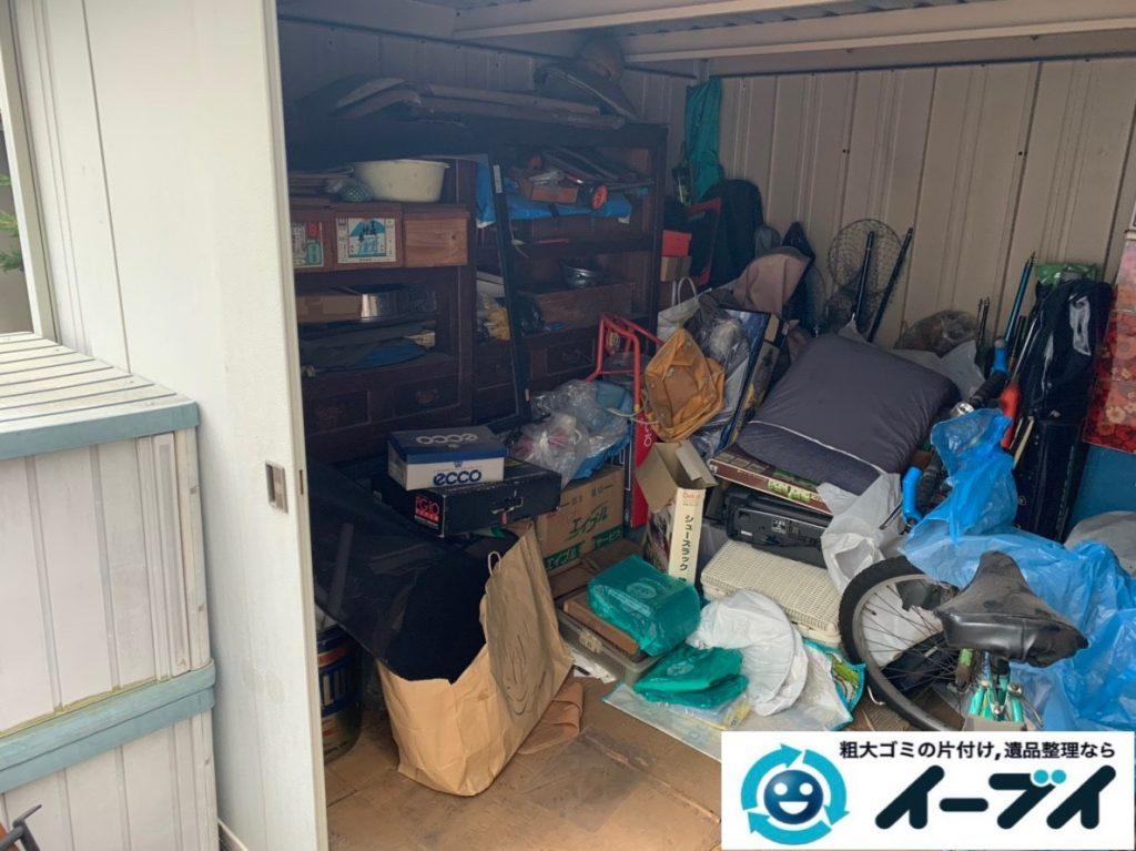 2019年7月19日大阪府大阪市旭区で物置の中の不用品回収。写真4