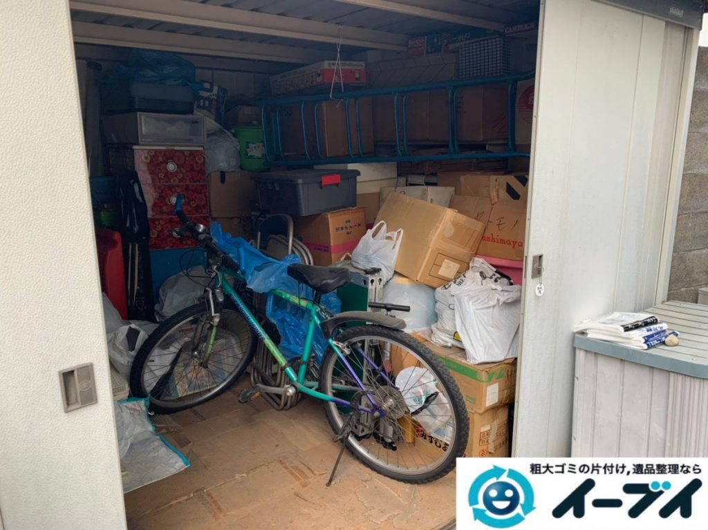 2019年7月19日大阪府大阪市旭区で物置の中の不用品回収。写真3