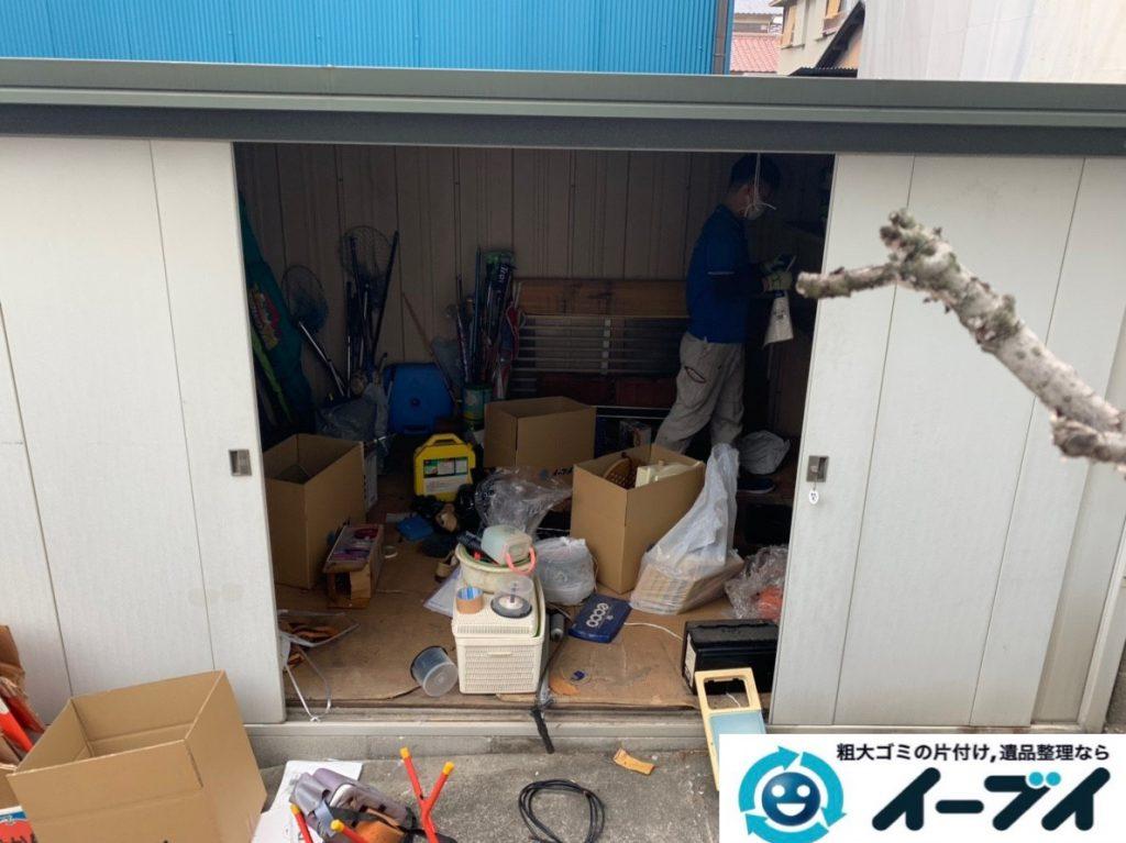 2019年7月19日大阪府大阪市旭区で物置の中の不用品回収。写真2