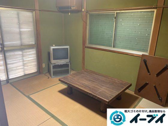 2019年7月31日大阪府大阪市北区で洗濯機の大型家電、テーブルの大型家具の不用品回収。写真3