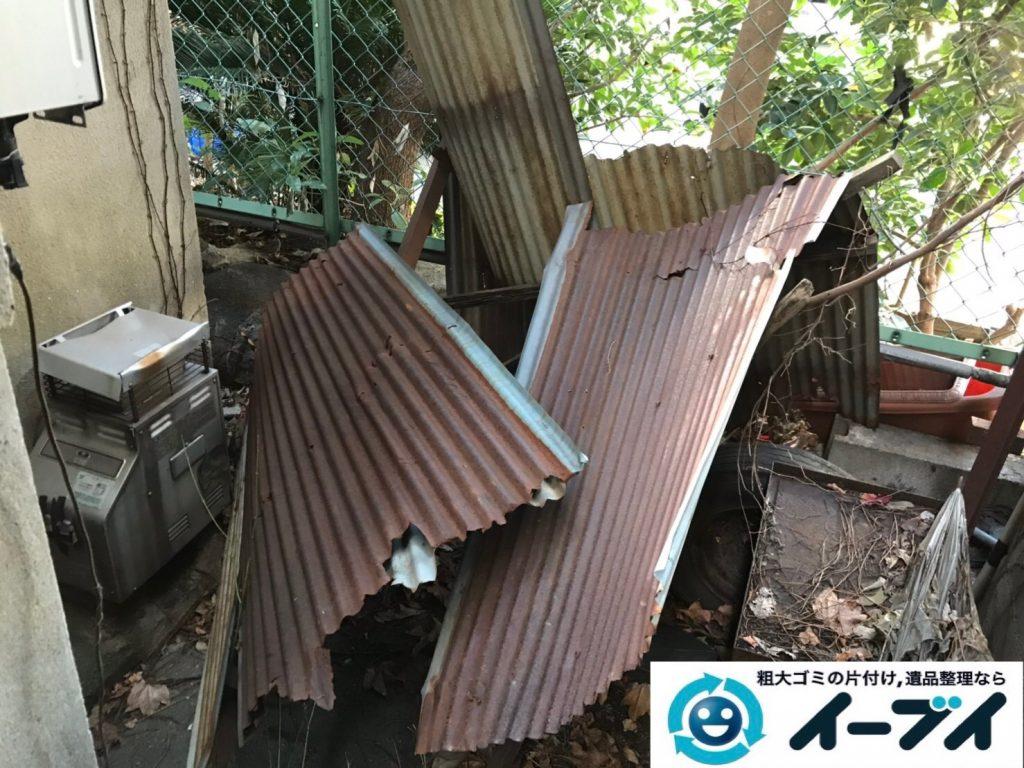 2019年8月2日大阪府大阪市北区でエアコンの室外機や自転車などの不用品回収。写真1