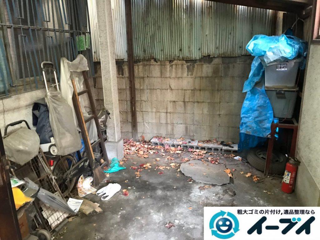 2019年7月22日大阪府堺市堺区でお部屋やガレージの不用品回収作業。写真1