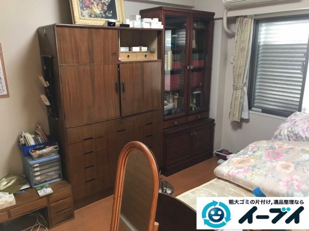 2019年7月11日大阪府交野市でベッドの大型家具、クローゼットの片付けをさせていただきました。写真1