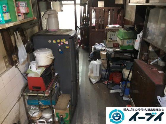 2019年8月8日大阪府城東区で食器棚の大型家具や冷蔵庫の大型家電の不用品回収。写真5