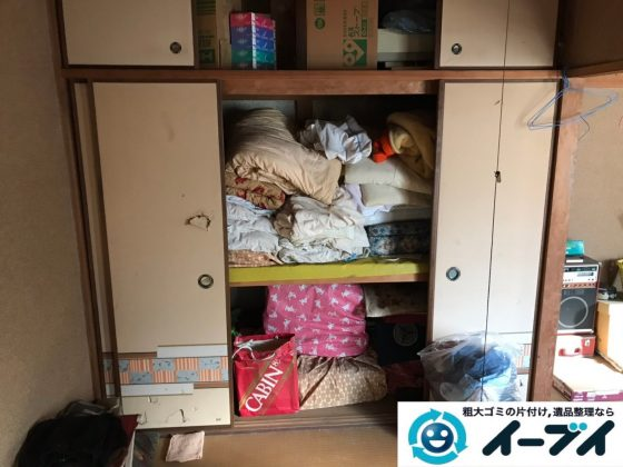 2019年8月1日大阪府千早赤阪村でお部屋と押し入れの片付け作業。写真3