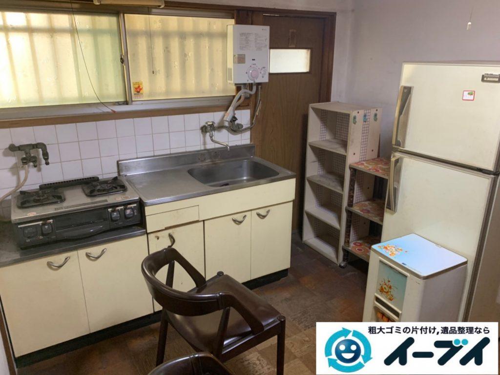 2019年7月15日大阪府吹田市で食器棚や冷蔵庫の大型粗大ゴミ処分。写真1