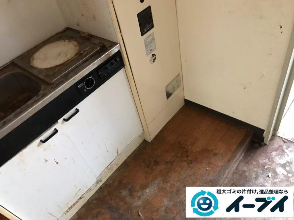 2019年7月29日大阪府大阪市住吉区で台所周りのお部屋の不用品回収。写真4