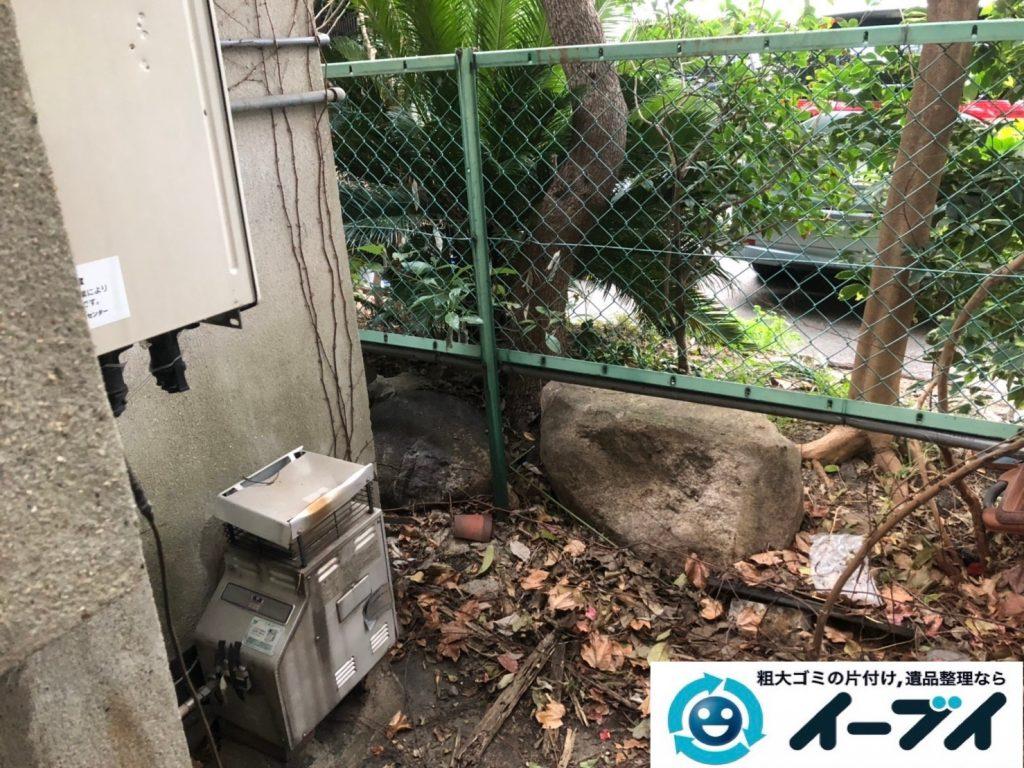 2019年8月2日大阪府大阪市北区でエアコンの室外機や自転車などの不用品回収。写真2