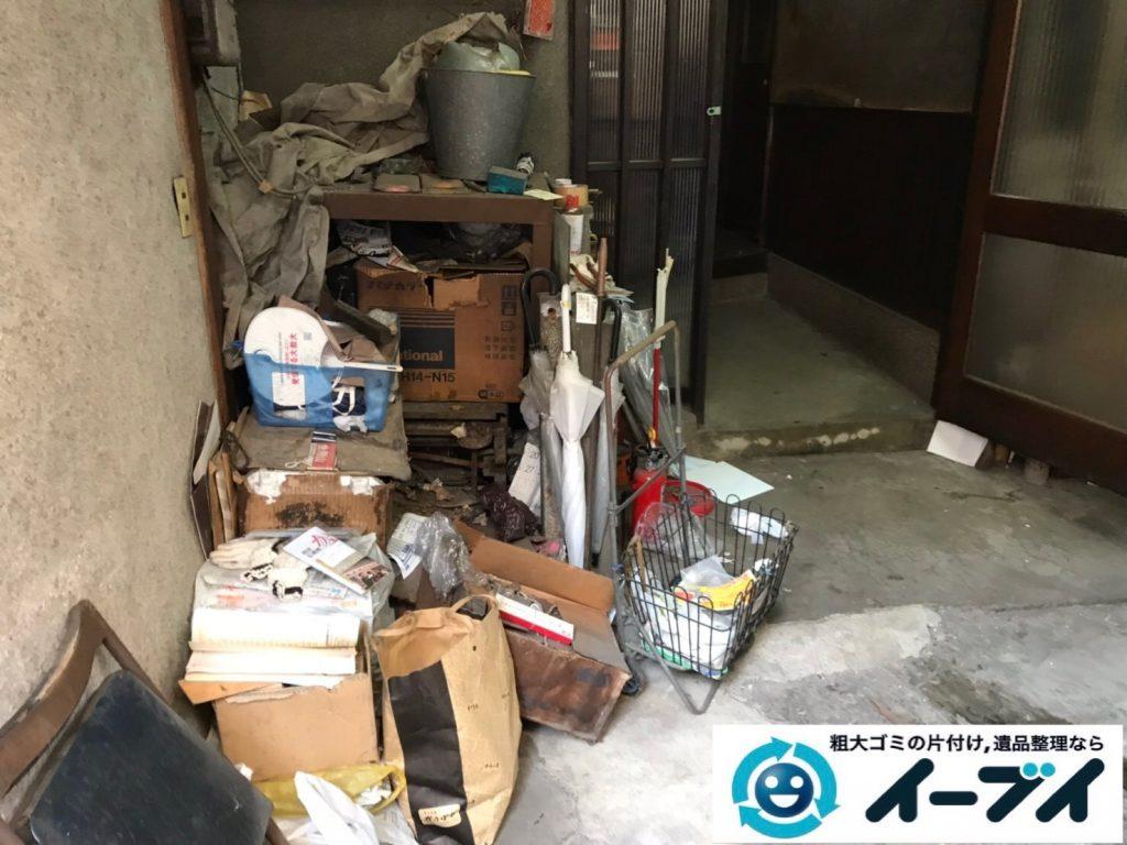 2019年7月22日大阪府堺市堺区でお部屋やガレージの不用品回収作業。写真3