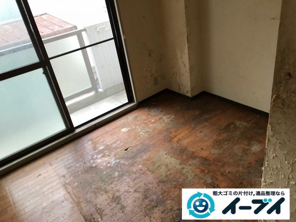 2019年7月26日大阪府大阪市中央区でテーブルやベッドの大型家具処分。写真4