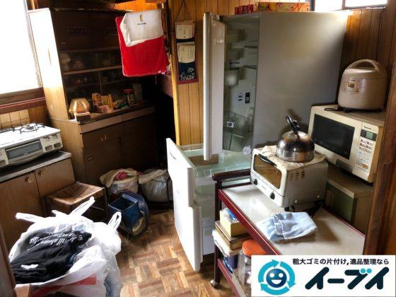 2019年7月17日大阪府堺市南区で食器棚の大型家具、冷蔵庫の大型家電の不用品回収。写真3