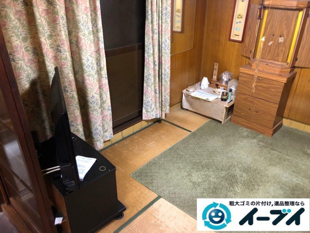 2019年8月26日大阪府大阪市旭区でテレビの家電処分、収納棚やテレビ台の家具処分をしました。写真3