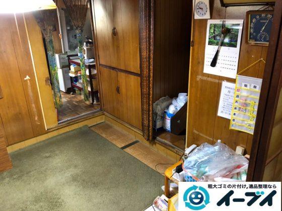 2019年8月26日大阪府大阪市旭区でテレビの家電処分、収納棚やテレビ台の家具処分をしました。写真1