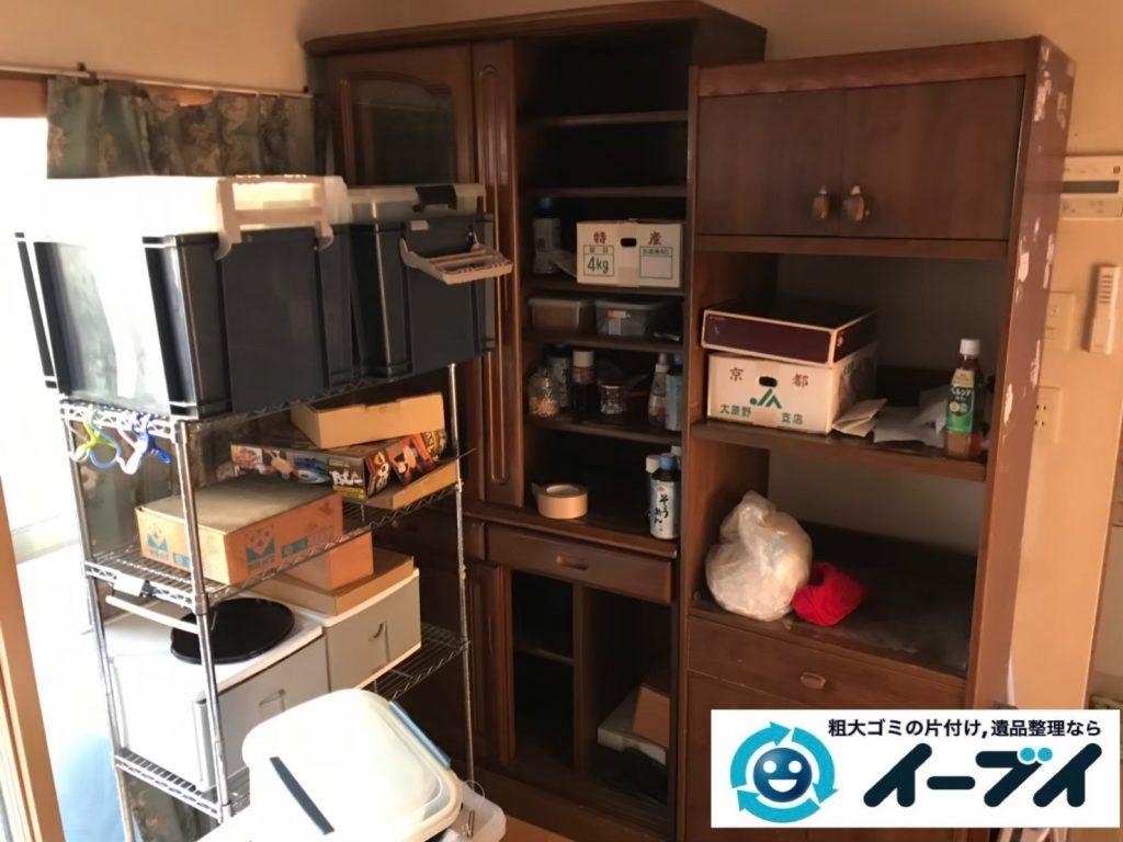 2019年9月2日大阪府大阪市浪速区で食器棚やスチールラックや台所の片付け作業。写真3