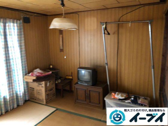 2019年8月22日大阪府大阪市東住吉区でテレビや収納棚なの不用品回収。写真3