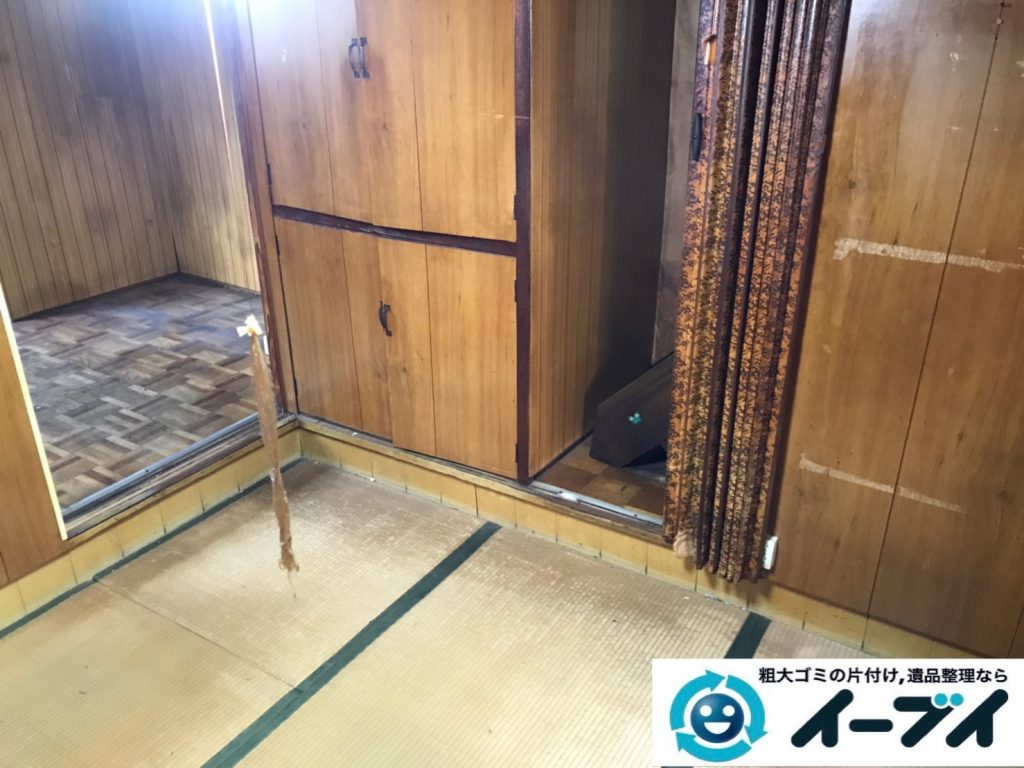 2019年8月26日大阪府大阪市旭区でテレビの家電処分、収納棚やテレビ台の家具処分をしました。写真2