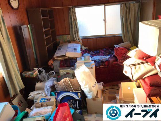 2019年9月3日大阪府大阪市淀川区物が散乱しゴミ屋敷化した汚部屋の片付け作業。写真3