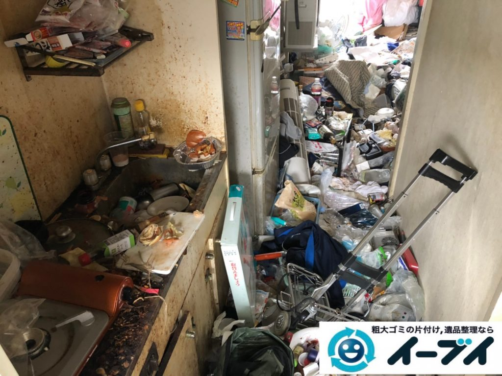 2019年8月21日大阪府大阪市東淀川区でゴミ屋敷の片付け作業をしました。写真1