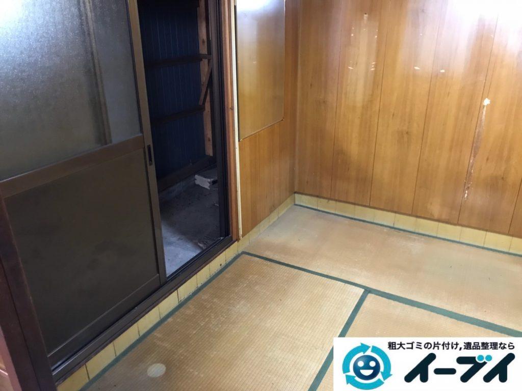 2019年8月26日大阪府大阪市旭区でテレビの家電処分、収納棚やテレビ台の家具処分をしました。写真4