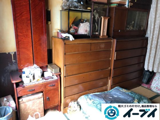 2019年8月23日大阪府大阪市旭区で婚礼家具の大型家具、冷蔵庫の大型家電を不用品回収しました。写真2