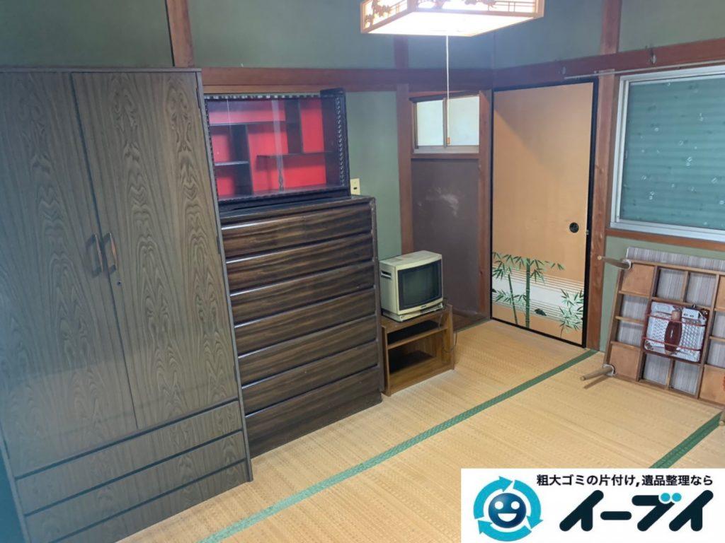 2019年8月20日大阪府大阪市城東区で和箪笥や整理箪笥の大型家具処分。写真1