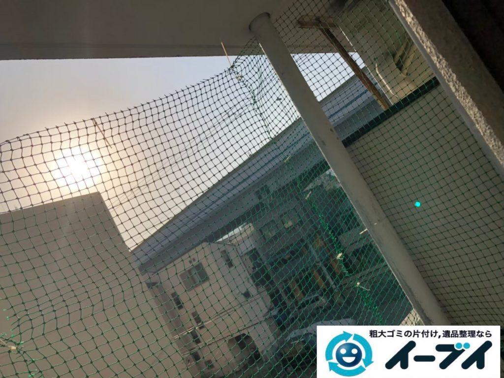 2019年9月19日大阪府大阪市都島区でベランダの不用品回収をさせていただきました。写真4月分