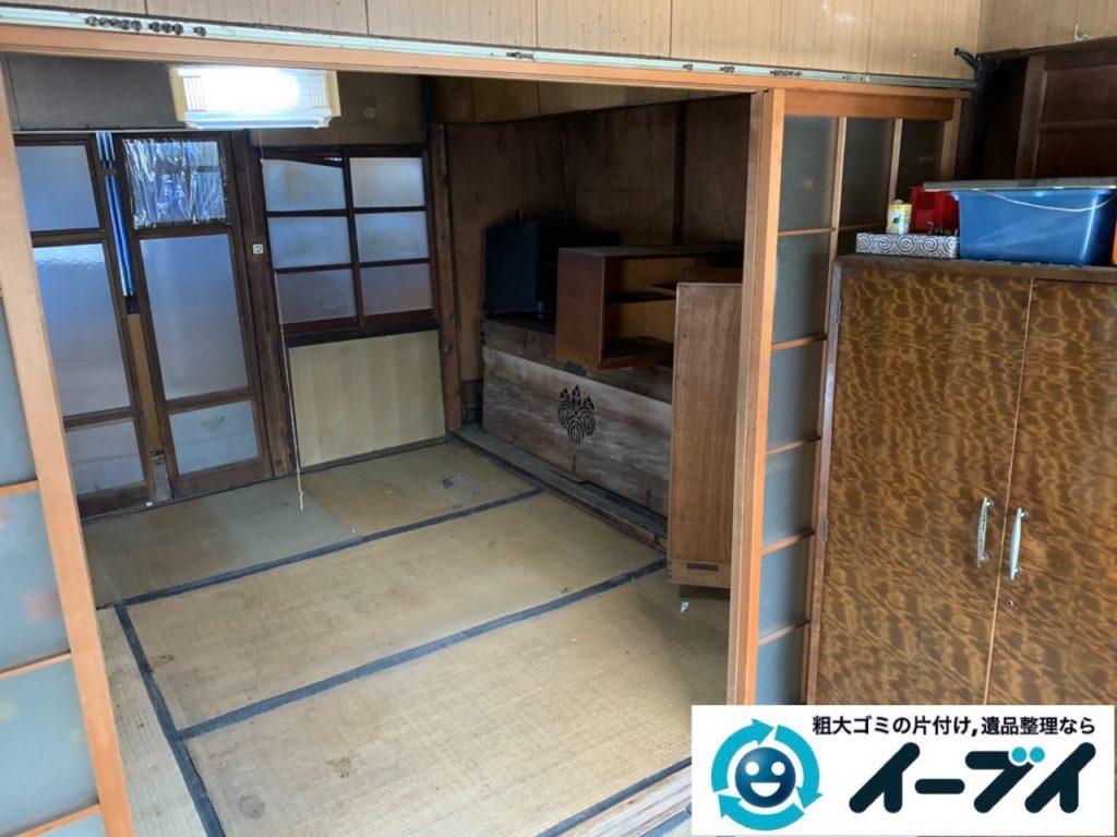 2019年10月1日大阪府泉大津市でゴミ屋敷化した汚部屋の片付け作業です。写真4