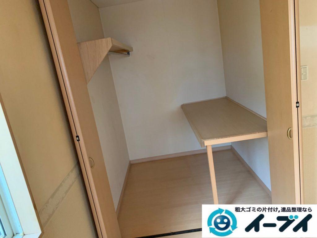 大阪府大阪市港区で生活ゴミや生活用品が散乱したお部屋の不用品回収。4