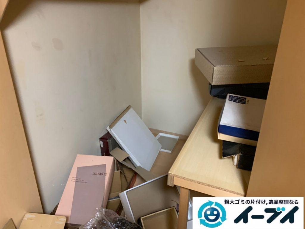 大阪府大阪市港区で生活ゴミや生活用品が散乱したお部屋の不用品回収。3