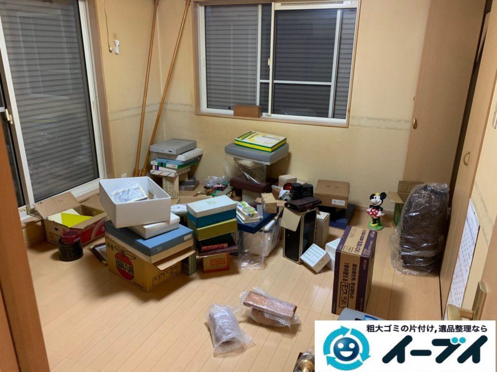 大阪府大阪市港区で生活ゴミや生活用品が散乱したお部屋の不用品回収。1