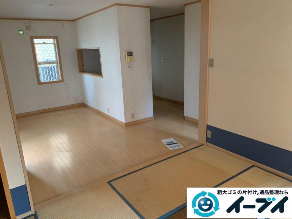 2019年9月27日大阪府大阪市港区で退去に伴い、お家の家財道具を一式処分させていただきました。写真2