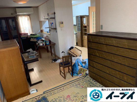 2019年9月27日大阪府大阪市港区で退去に伴い、お家の家財道具を一式処分させていただきました。写真1