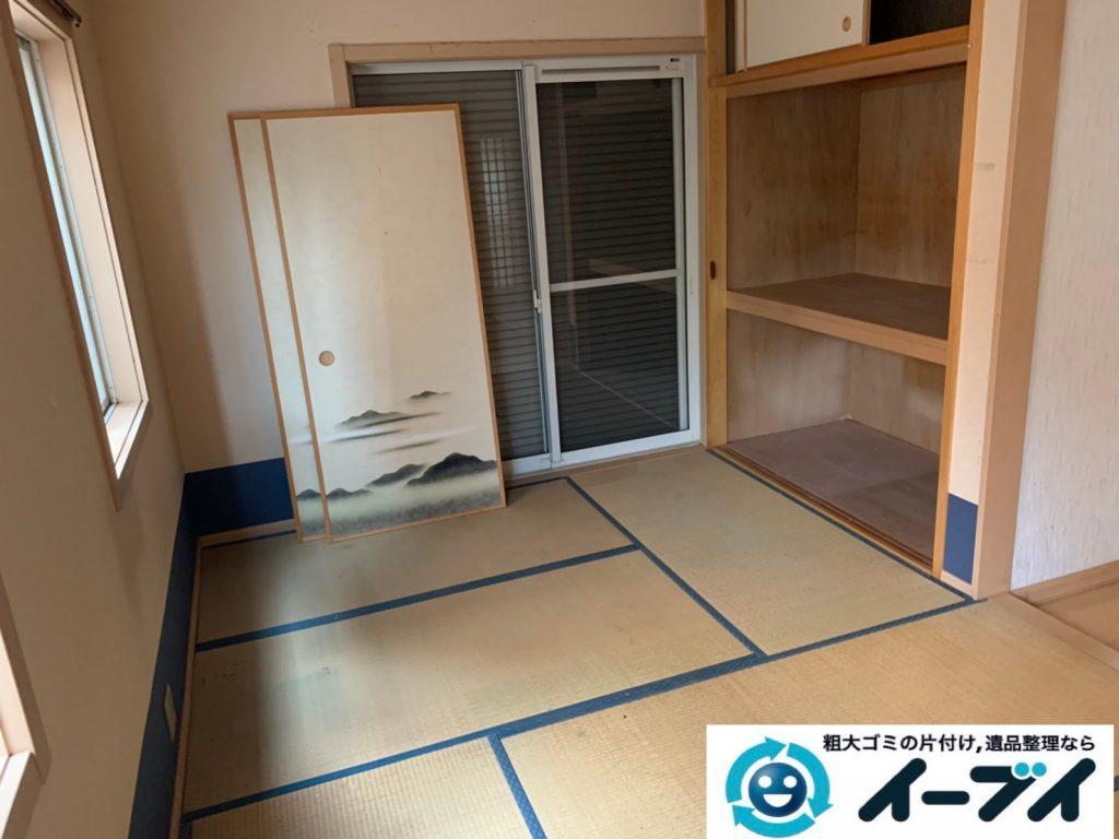 2019年10月4日大阪府吹田市でベッドの大型家具の不用品回収処分。写真6