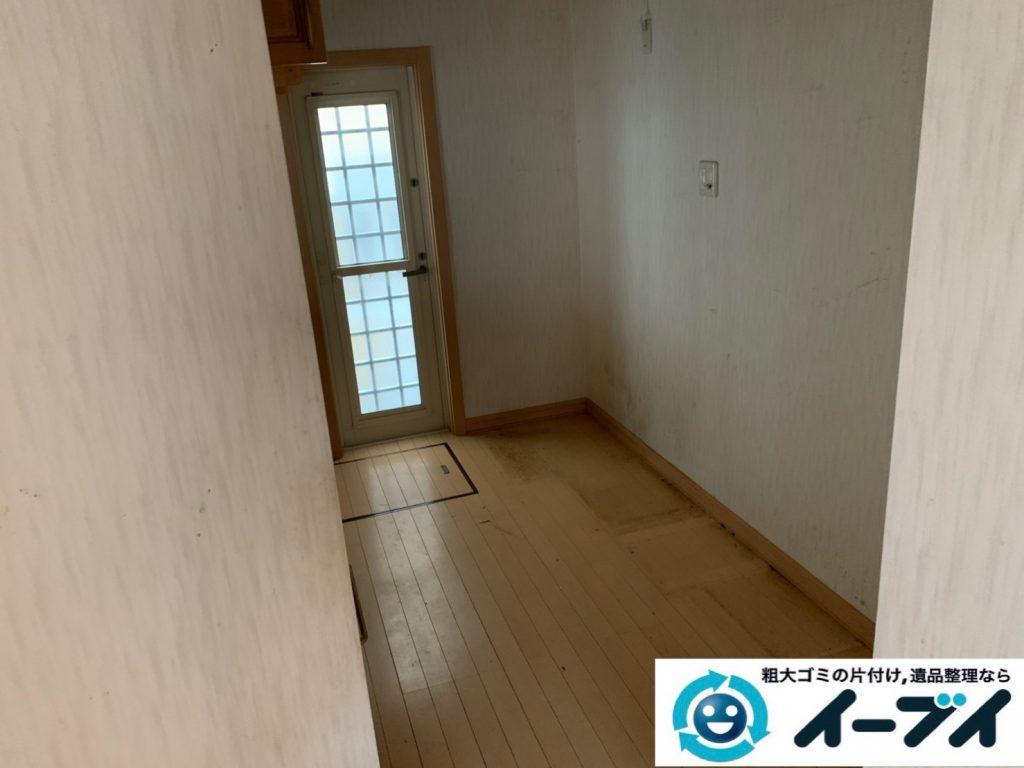 2019年10月1日大阪府枚方市で冷蔵庫の大型家電、食器棚の大型家具の不用品回収。  写真4