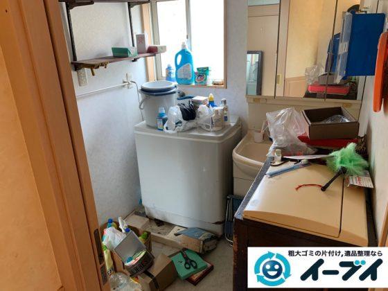 2019年10月1日大阪府枚方市で冷蔵庫の大型家電、食器棚の大型家具の不用品回収。 写真1