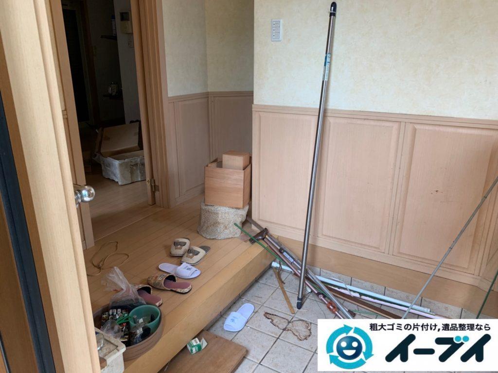 2019年10月4日大阪府吹田市でベッドの大型家具の不用品回収処分。写真1