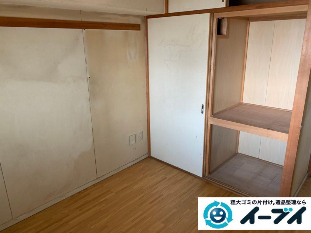 2019年9月26日大阪府大阪市鶴見区で退去に伴いお家の家財道具を一式処分させていただきました。写真4