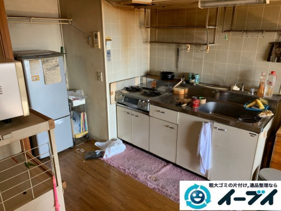 2019年10月11日大阪府狭山市で施設に移るため、お家の家財道具を不用品回収させていただきました。写真3