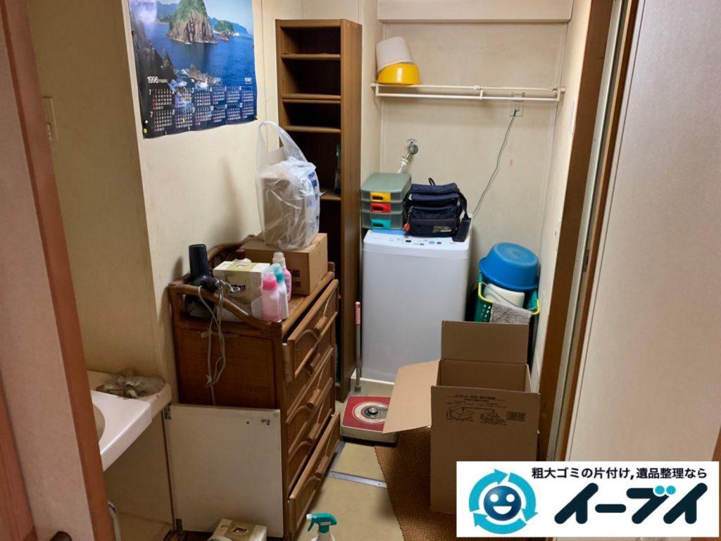 2019年10月10日大阪府太子町でタンスやソファの大型家具、洗濯機の大型家電処分をさせていただきました。写真1