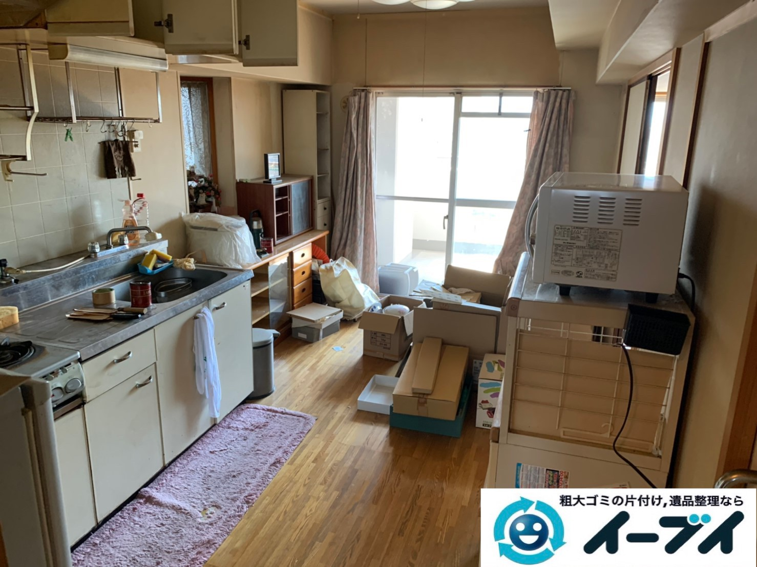2019年10月15日大阪府守口市でタンスや本棚の家具処分、電子レンジやトースターの家電処分の不用品回収。写真3