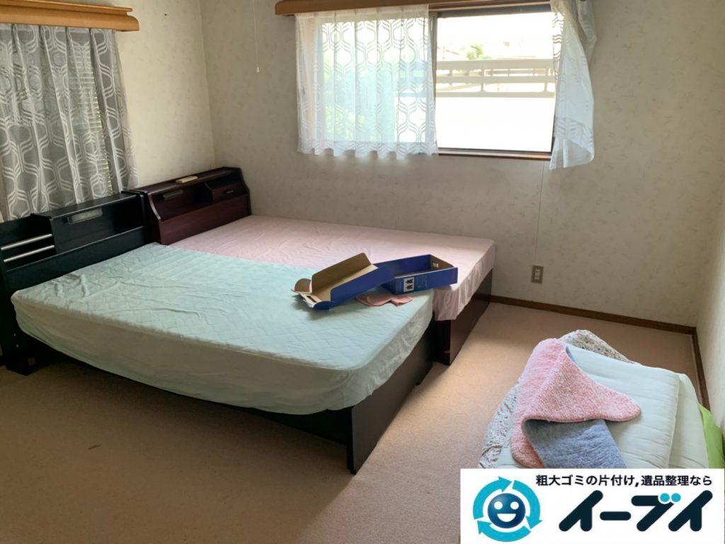 2019年10月8日大阪府大阪市中央区でベッドの大型家具処分をしました。写真3