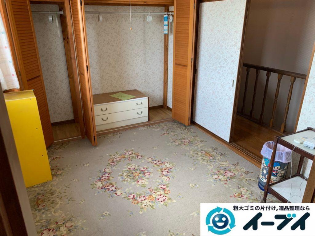 2019年10月8日大阪府大阪市中央区でベッドの大型家具処分をしました。写真1