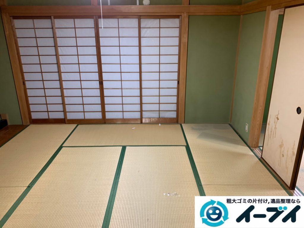 2019年10月17日大阪府大阪市富田林で引越し後に残った、引っ越しゴミを不用品回収しました。写真2