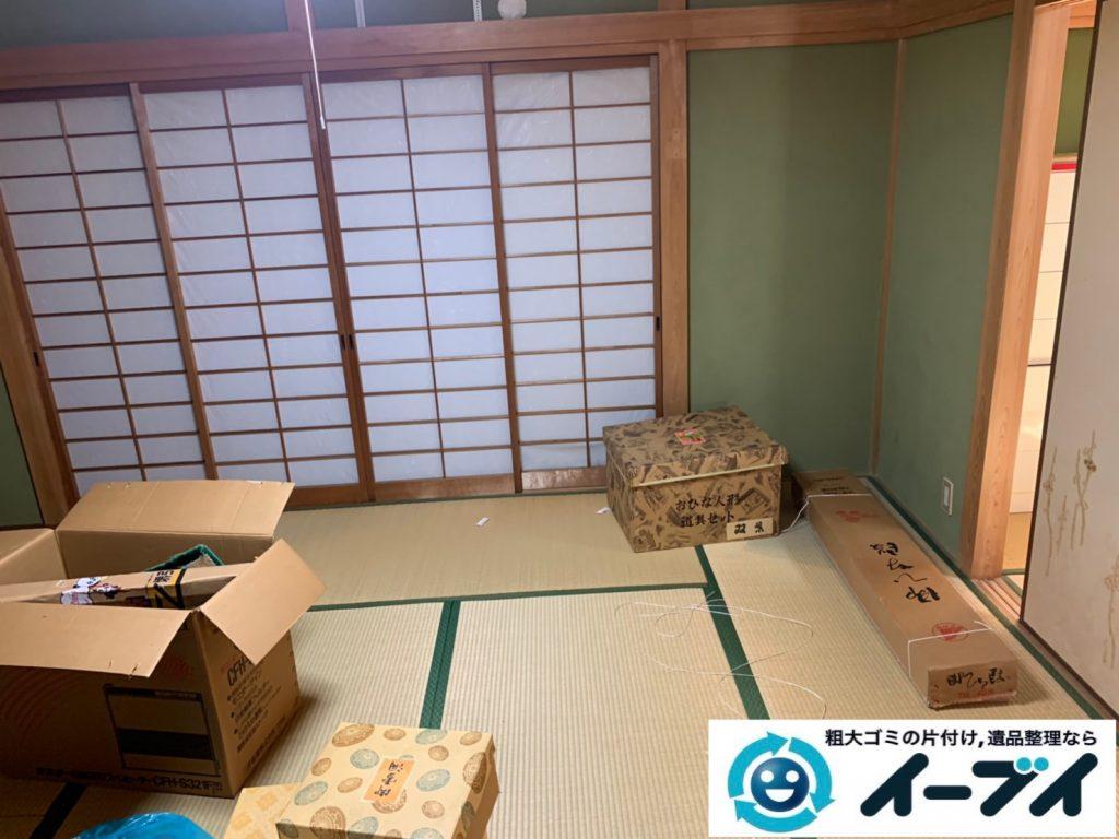 2019年10月17日大阪府大阪市富田林で引越し後に残った、引っ越しゴミを不用品回収しました。写真1