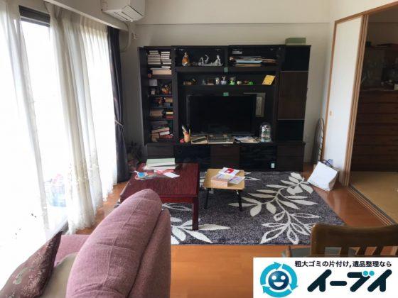 2019年9月12日大阪府大阪市西区でテーブルやソファの大型家具処分。写真3