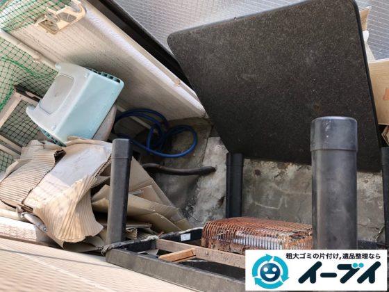 2019年9月19日大阪府大阪市都島区でベランダの不用品回収をさせていただきました。写真1