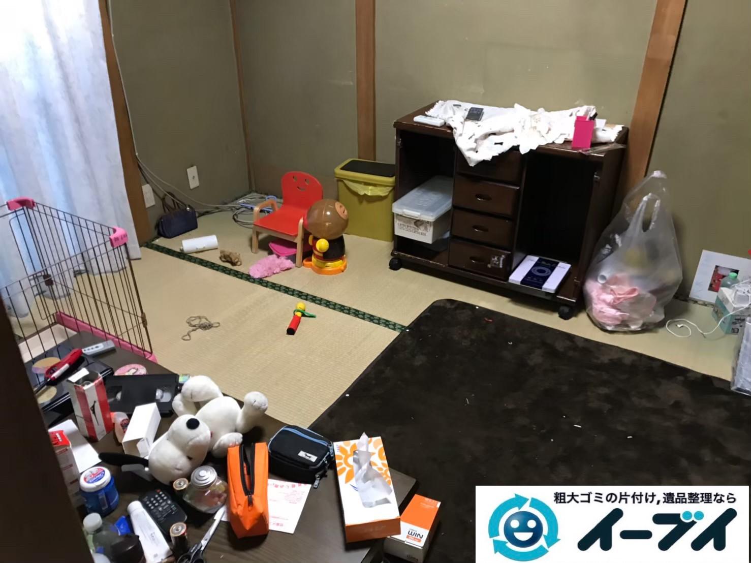 2019年9月9日大阪府大阪市東住吉区でテーブルや収納棚の大型家具処分。写真3