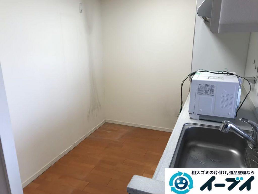 2019年9月13日大阪府大阪市西区で食器棚や冷蔵庫の大型家具や大型家電の粗大ゴミ処分。写真4