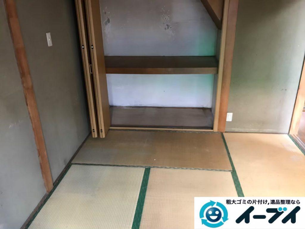 2019年9月5日大阪府大阪市此花区でテーブルや整理箪笥の大型家具処分。写真2